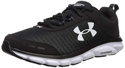 Under Armour Men's Charged Assert 8 Running Shoe, Black (001)/White, 10