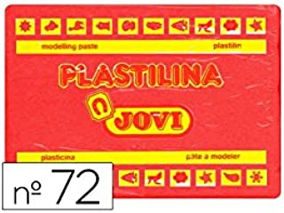 Jovi - 72 - plastilina 350 gr. caja x 15 (rojo): Amazon.es: Oficina y papelería