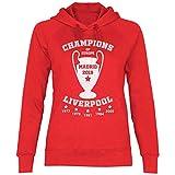 wowshirt Sudadera con Capucha Liverpool Champions Jersey Madrid 2019 Jürgen Klopp para Mujer, Tamaño:L, Color:Red