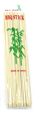 BAMBOO SKEWERS STICKS VOOR BBQ GRILL PACK VAN 300 FRUIT, FONDUE KEBAB 12
