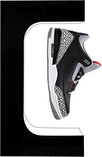 TOPQSC Estante magnético flotante para zapatos, versión mejorada de 360 ° giratorio LED magnético Levitación zapatero exhibidor de zapatos, control de potencia electromagnético, ventilador int