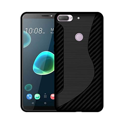 Case Creation Plain Soft case for HTC Desire 12 Plus, 100% Black Flexible Soft Black Border Corner Protection Case Back Cover for HTC Desire 12 Plus (Matte Black)