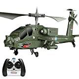 Pkfinrd 2.4Ghz RC Plane 3.0 Channel Remote Control Helicopter Drop-Resistant RC Army Heli Toy with Gyro & Led for Kids Boys Girls Adults Indoor (Size : 2 Battery)