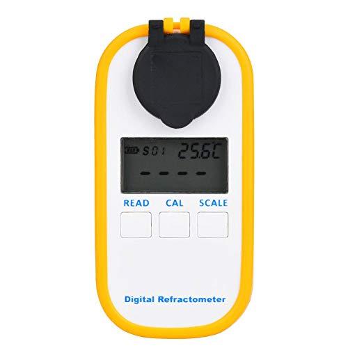 Digitale zoutgehalte-refractometer, zeer nauwkeurige lcd-tester voor het zoutgehalte van levensmiddelen, zeewater-aquarium-zoutgehalte-refractometer(A).