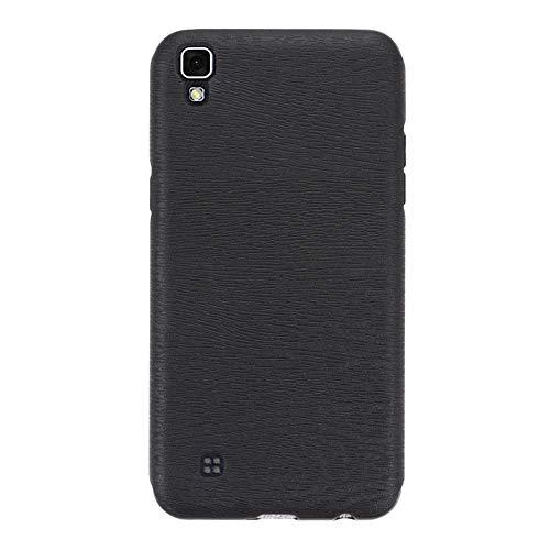 Capa para LG X Power, capa traseira de couro de poliuretano termoplástico macio resistente a arranhões e à prova de choque, capa protetora luxuosa para LG X Power (preto)