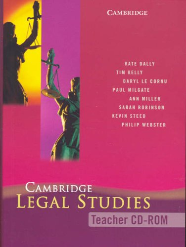 Cambridge Legal Studies Teacher CD-Rom