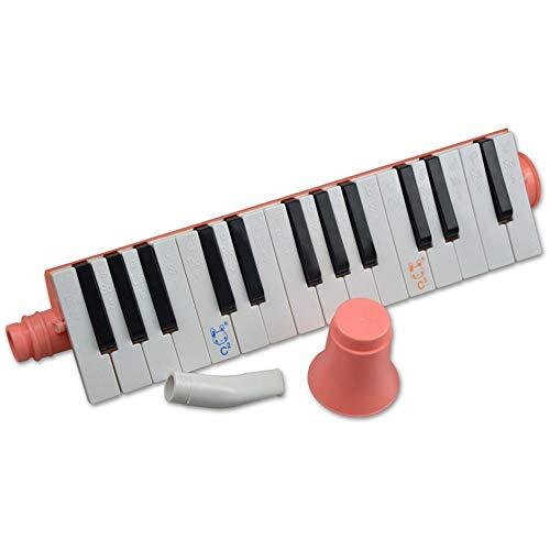 Melodica de estilo piano Portátil 27 teclas para niños Juguete Melodica Instrument Piano Style con estuche portátil Teclado Instrumento de viento con boquillas Regalo musical Juguetes para niños Princ