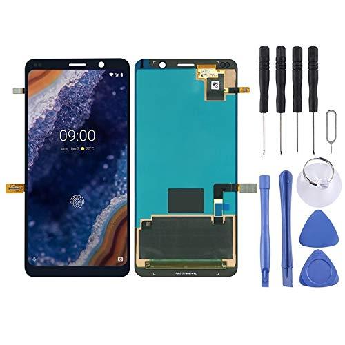Zhouzl Nokia Spare Ecran LCD et convertisseur numérique Complet for Nokia 9 PureView Nokia Spare (Couleur : Black)
