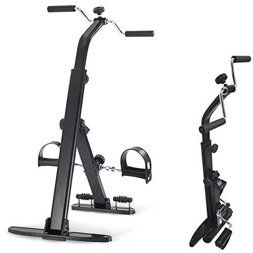 DSYYF Bicicleta de Ejercicio Ejercitador de Pedal para ejercitador de Brazos y piernas, Equipo de Ejercicios portátil doblado para Ancianos - Bicicleta de Ejercicio de Pedal