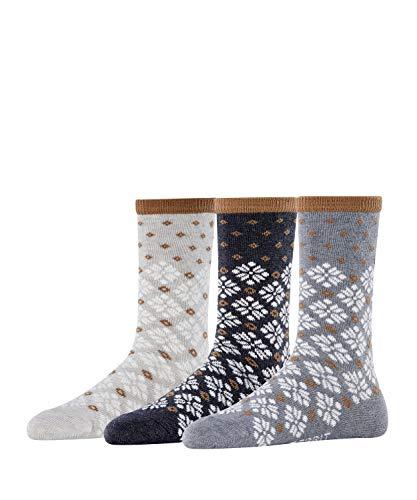 ESPRIT Damen Norwegian 3-Pack Socken, mehrfarbig (sortiment 0010), 36-41 (3er Pack)