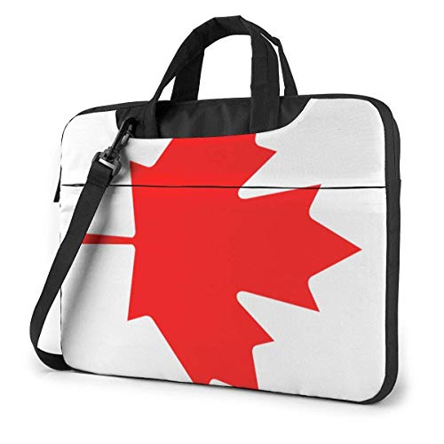 Portable Laptop Bag Sleeve Briefcase Canada Flag Laptop Sleeve Case 15.6 Inch Computer Tote Bag Shoulder Messenger Briefcase