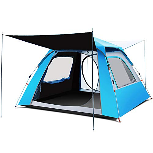 ZYCWBW Tienda De Campaña 3-4 Personas, Camping Ligero