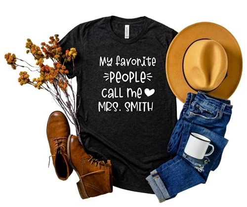 gift My Favorite People Call Me Large discharge sale Mrs. Shirt School to Ts Back Teacher