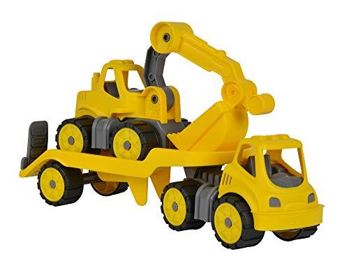 Big - Power Worker Mini - TrAnsporteur + Pelleteuse - Roues Soft - pour Enfant dès 2 Ans - 800055805