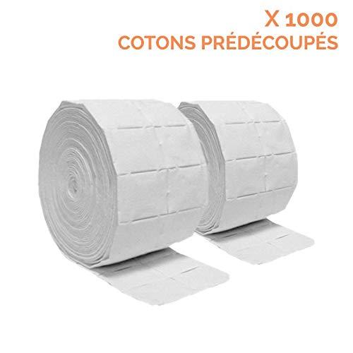 Vivezen ® Lot de 2 rouleaux de 500 cotons manucure de cellulose - Norme CE