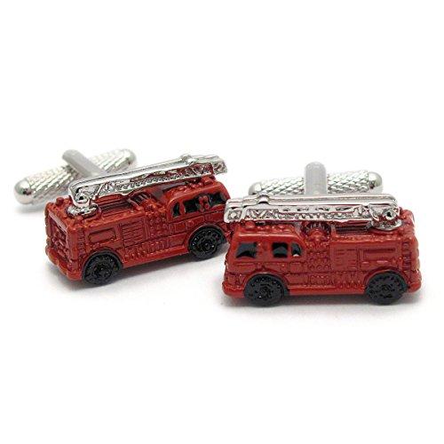 Boutons de manchette Homme Fantaisie – Fire Engine cadeau pompier