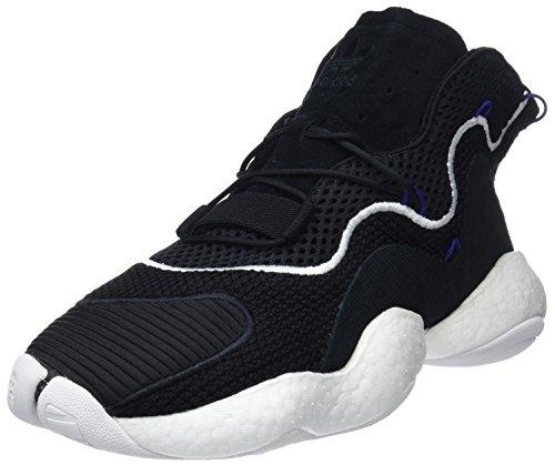 adidas Crazy Byw, Scarpe da Ginnastica Basse Uomo, Nero (Core Black/Footwear White/Real Purple 0), 40 2/3 EU