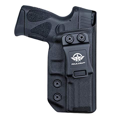 Taurus G3 Holster IWB Kydex Funda Custom Fit: Taurus G3 9mm / .40 Pistol - Cintura interior Transporte oculto - Adj. Retención de inclinación - Botón Mag superpuesto - Entrada ensanchada - Sin