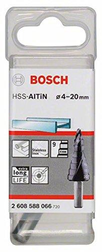 Bosch 2 608 588 066 - Broca escalonada HSS-AlTiN - 4-20 mm, 8,0 mm, 70,5 mm (pack de 1)