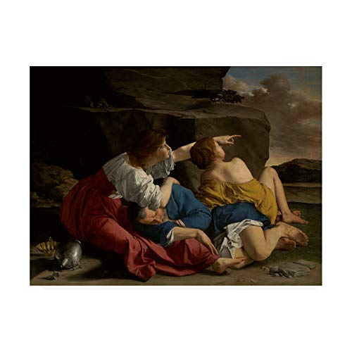 Trademark Fine Art Lot and his Daughters by Gentileschi, 35x47, Multiple