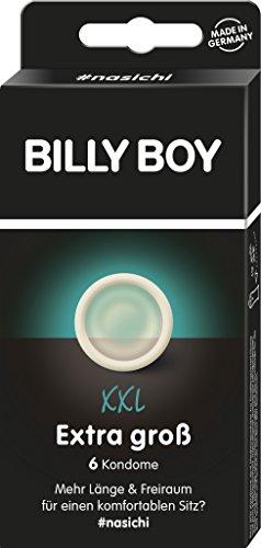 Billy Boy XXL Extra Groß Kondome XXL, extra lang, 195mm x extra breit, bis zu 62 mm, Transparent, 6 Stück