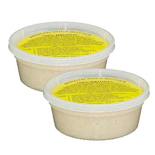 "REAL African Shea Butter Pure Raw Unrefined From Ghana""IVORY"" 8oz. CONTAINER"