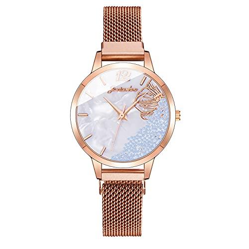 CXJC Reloj Personalizado de Cuarzo Deportivo Impermeable, Reloj Deportivo de Moda para Damas, Material de la Correa de aleación (Color : G)