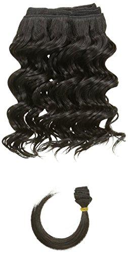 chear Français vague trame Extension de cheveux humains avec de mélange tissage, numéro 1b, Off Noir), 25,4 cm