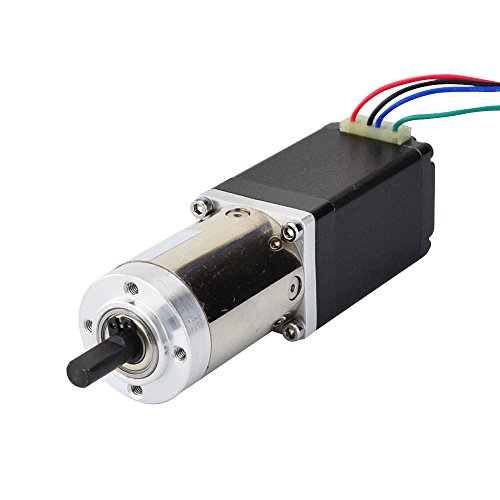 STEPPERONLINE Nema 11 Motor paso a paso Bipolar L = 51 mm w/transmisión 100:1 Engranaje planetario para máquina de grabado CNC, impresora 3D