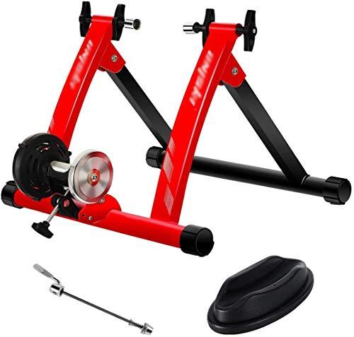 YZPJSQ Bike Trainer Stand Esercizio Coperta Magnetica Formazione Biciclette Basamento del Rilascio rapido di Equitazione Supporto for Mountain & Road Bike