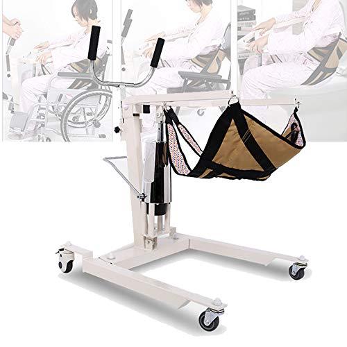 Enwebalay Treppe Rollstuhl, Treppenlift mit Vientiane Silent Wheel, Rollstuhl Treppenlift Stuhl Verdickter Stahl füR BettläGerige Patienten, Belastbarkeit 120 Kg