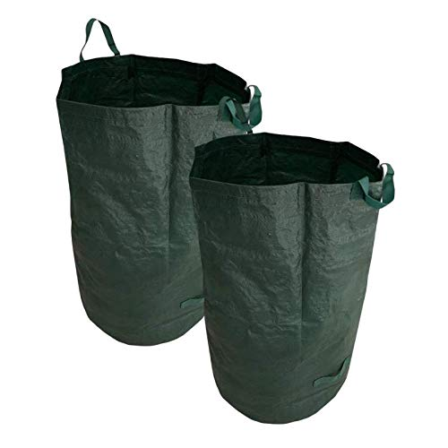 Megaprom 2X 110 Liter Gartenabfallsäcke Laubsack Gartensack Abfallsäcke Müllsäcke, aus robustem Polypropylen-Gewebe