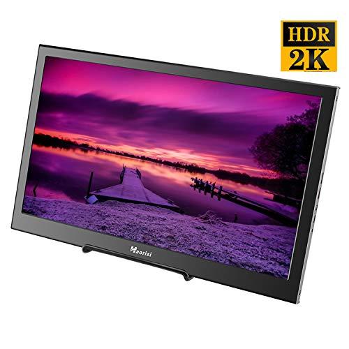 Haorizi Portable Gaming Monitor 13.3 inch 2K HDR 2560x1440 High Resolution IPS Monitor Dual HDMI...