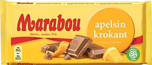 Marabou Apelsin Krokant Original Swedish Milk Chocolate Apelsinkrokant Bar 200g. By Kraft Foods.