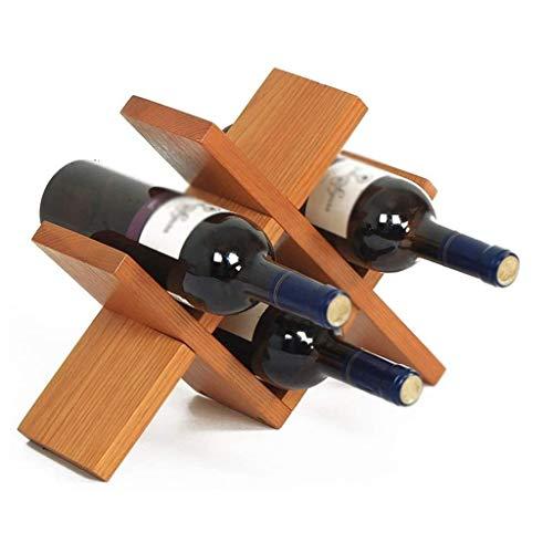 WJCCY Vino Europea Creativo del Estante, de Madera Maciza de Vino Estante del Vino del hogar del Estante de la Botella, Fuerte Capacidad de Carga
