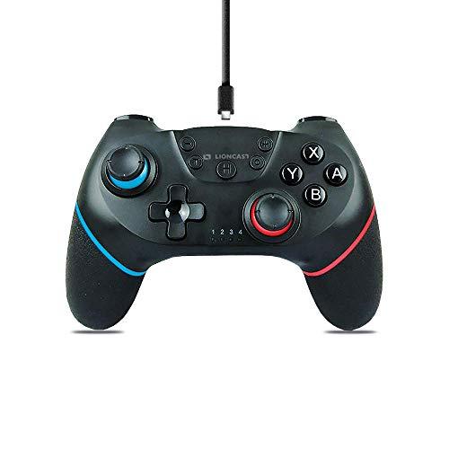 Lioncast Manette sans-Fil - Compatible avec la Nintendo Switch, Double Vibrations, Contrôle du Mouvement 6 Axes, Grip Caoutchouc - Portée 10 Mètres, Autonomie 15 h - Accessoire Jeux-Vidéos, Gaming