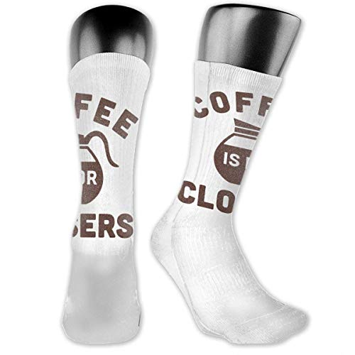 Calcetines unisex de rendimiento con cojín de tripulación de café para cierres de calcetines de deporte