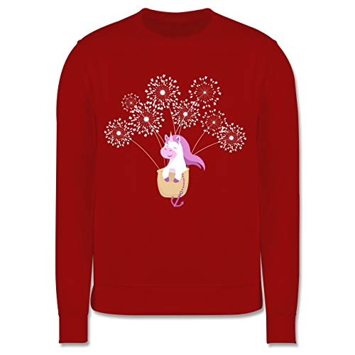 Shirtracer Up to Date Kind - Einhorn Pusteblume - 140 (9/11 Jahre) - Rot - it Name - JH030K - Kinder Pullover