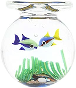 GlassOfVenice Tarro de cristal de Murano con dos peces tropicales