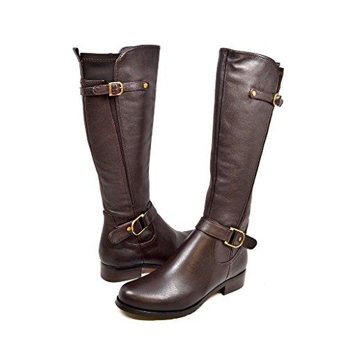SoleMani Avigial Women's Casual Brown X-Slim 12' Calf Leather Boot 6