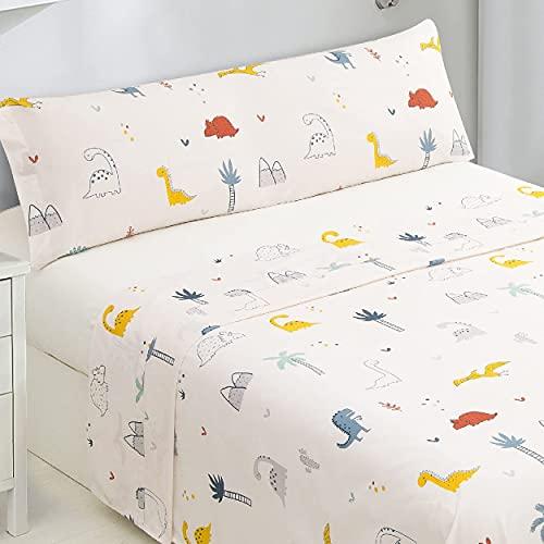 Dalina Textil Juego de Sábanas Infantil para Cama 3 Piezas - 1 Sábanas Bajera Ajustable Cama 90cm con Encimera 165x260cm y...