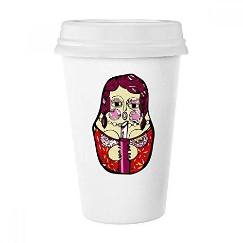 Russland Matroschkas im Female Classic Becher weiß Keramik Keramik Tasse Kaffee Milch Tasse Geschenk 350ml