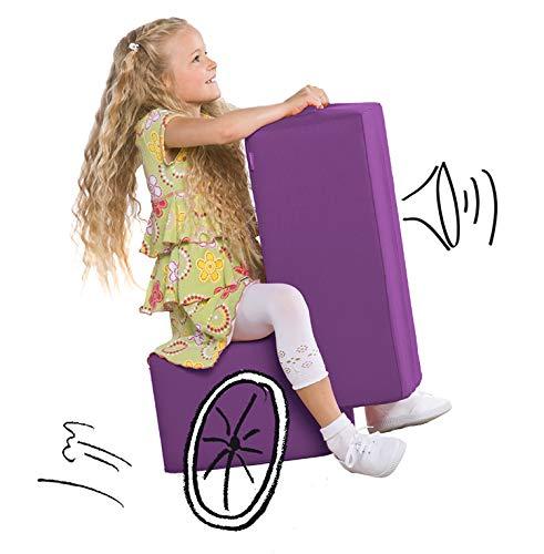Lümmel Polsterhocker zum Sitzen, Spielen und Rumtoben - Loungemöbel & Spielmöbel für Kinder und Erwachsene - violett