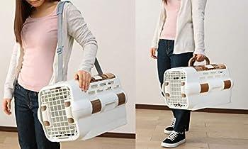 Iris Ohyama, Caisse de transport 2 portes pour chien et chat avec abreuvoir et laisses amovibles – Drive Pet Carrier – PDPC-500 – 51 x 32 x 28,5 cm