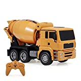 Mezclador de concreto RC Juguete 1:18 2.4G 6CH Mezclador de concreto Camión de ingeniería funcional completo Vehículo de construcción ligero Juguetes Camión de cemento eléctrico recargable para n