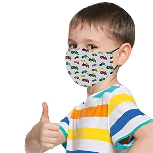 BOMING 1PC Kinder Wiederverwendbare Mundschutz verstellbares bedruckbares,waschbares Baumwolltuch,geeignet für Jungen und Mädchen