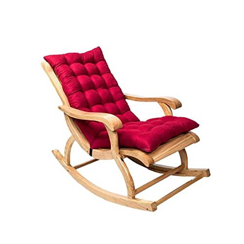 SHDS Cojines para sillas de Patio al Aire Libre cojín para mecedoras Almohadillas con mechones de Primera Calidad Respaldo Antideslizante sillón para Patio sillón Columpio Banco cojín mu