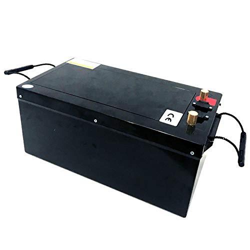 LeiQuanQuan Impermeable 12V 400AH LiFePO4 Batería Litio Célula de Hierro RV Paquete de batería de Almacenamiento Solar Fuente de alimentación de Respaldo UPS BMS Incorporado Batería YunHu