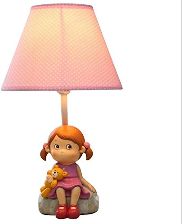 JIA JIA HOME-Kreative Dekoration Tischlampen Kinder Tischlampe Creative Cute Cartoon Schlafzimmer Nachttisch Schreibtisch Lampe Mdchen Geburtstag Geschenk (Power Switch Button) (gre   S)
