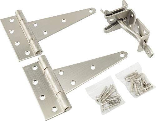 Hillman 853371 Essentials 852264 White Sash Lift Bar (4-inch) Stainless Steel Heavy Duty Gate Hardware Kit